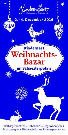 Flyer Weihnachtsbasar Kindernest